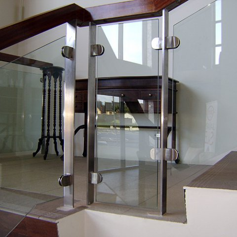 Glass Balustrade With Timber Handrail